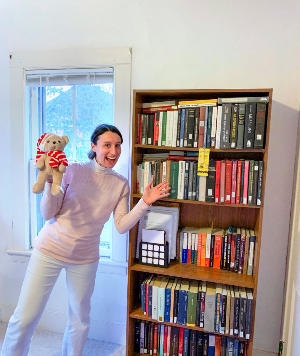 Benedetta Luciana Sara Carnaghi with her books