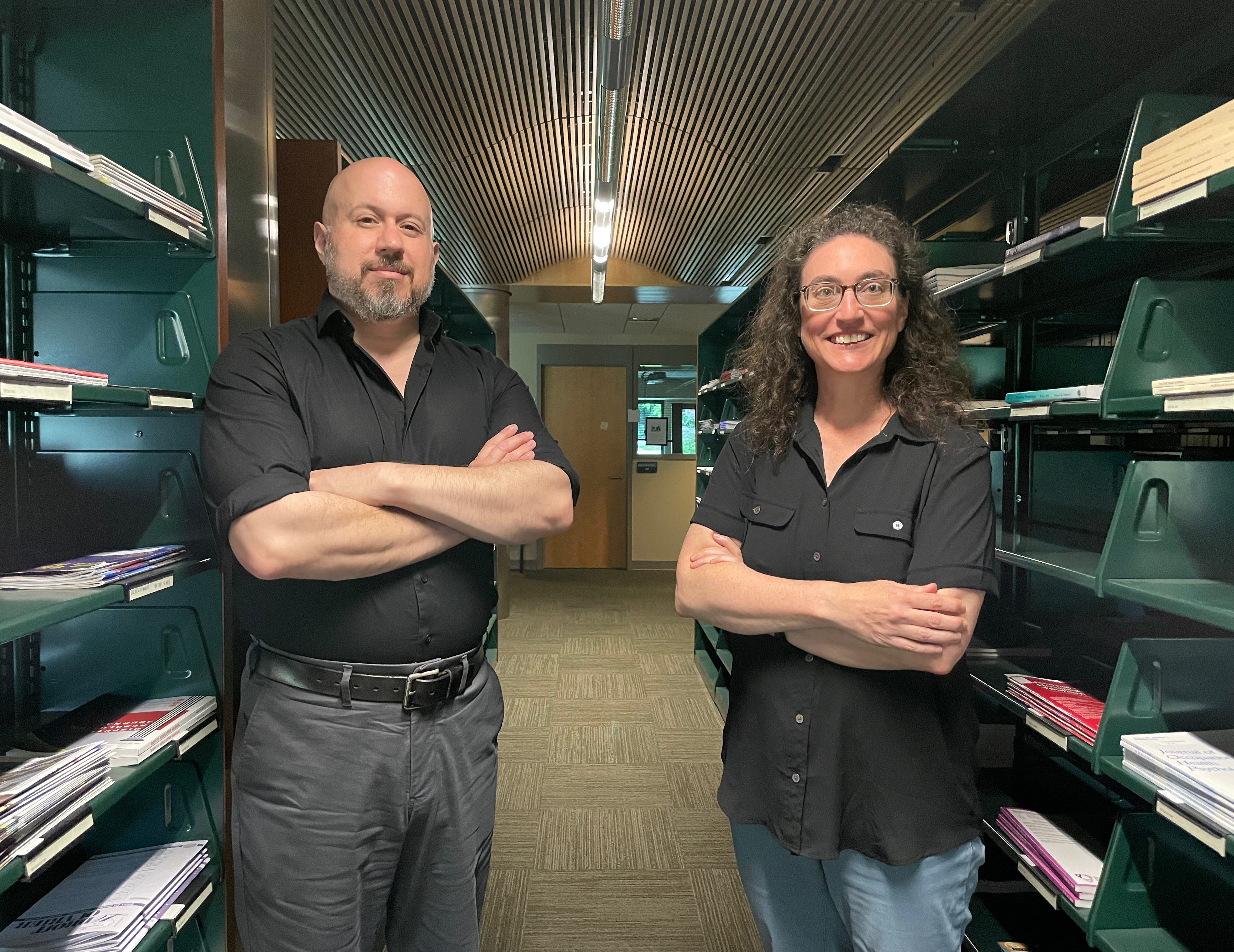 Jim DelRosso and Suzanne Cohen at Catherwood Library