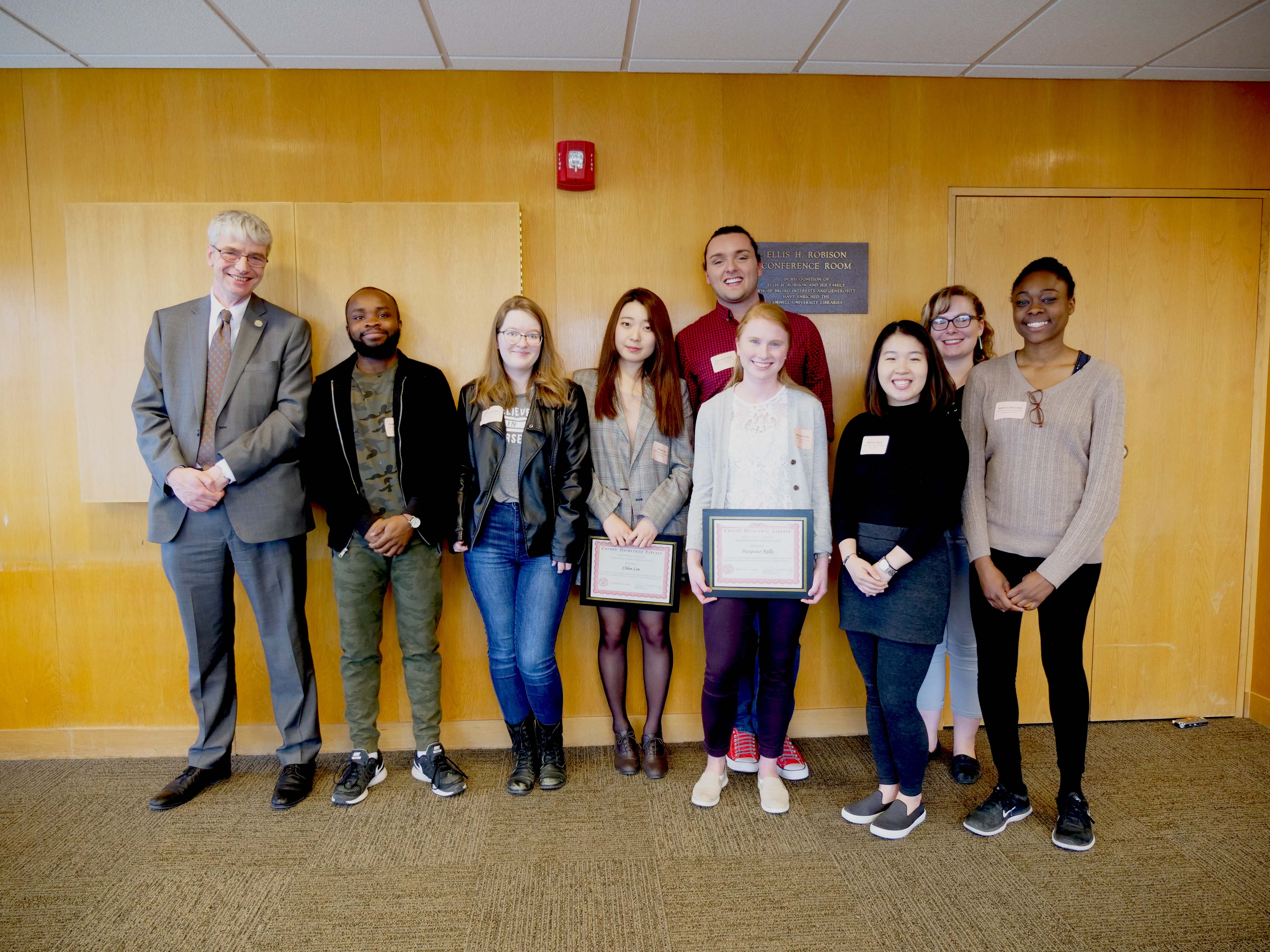 Gerald R. Beasley with student awardees