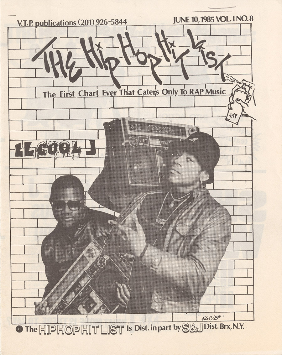 Cover of the Hip Hop Hit List, June 10, 1985
