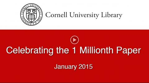 Celebrating the 1 millionth paper