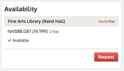 Library Catalog Text link